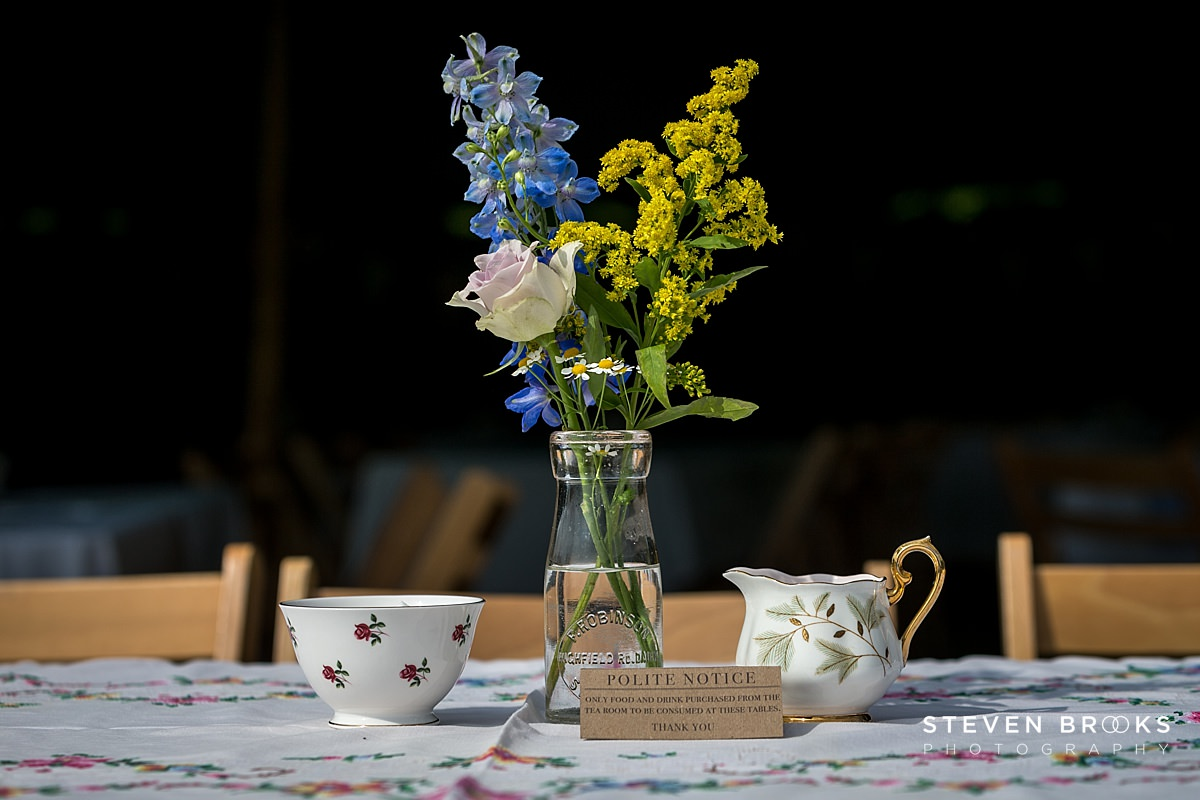 Norfolk photographer steven brooks photographs Britain Does Vintage at Stody Lodge garden flowers in jar