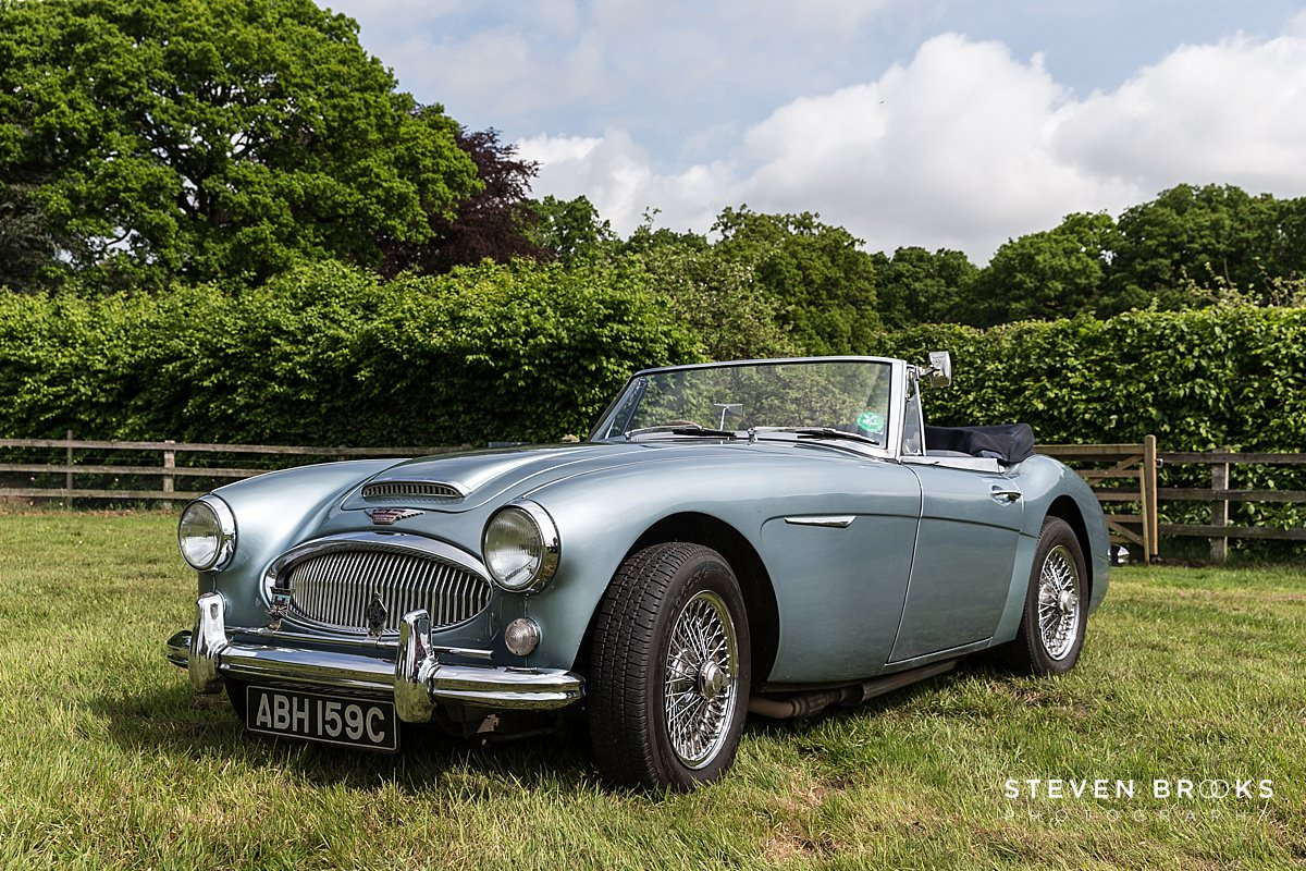 Norfolk photographer steven brooks photographs Britain Does Vintage at Stody Lodgevintage austin healey 300