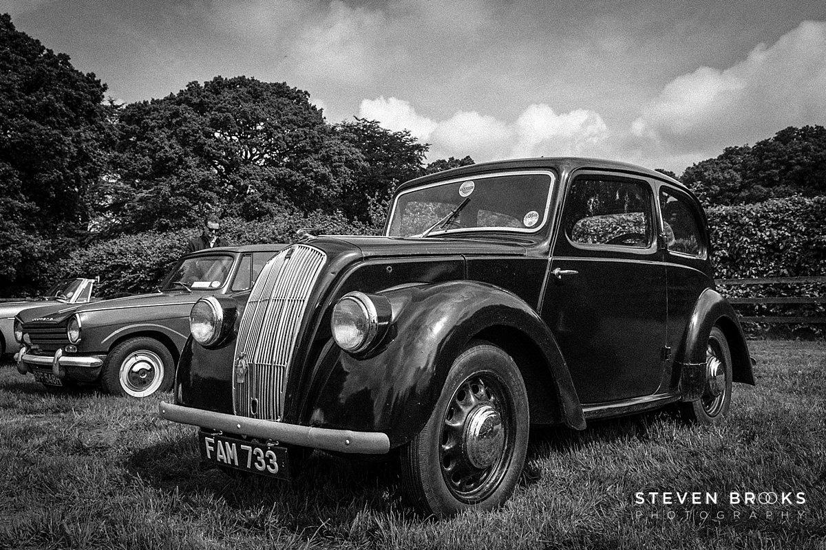 Norfolk photographer steven brooks photographs Britain Does Vintage at Stody Lodge vintage car