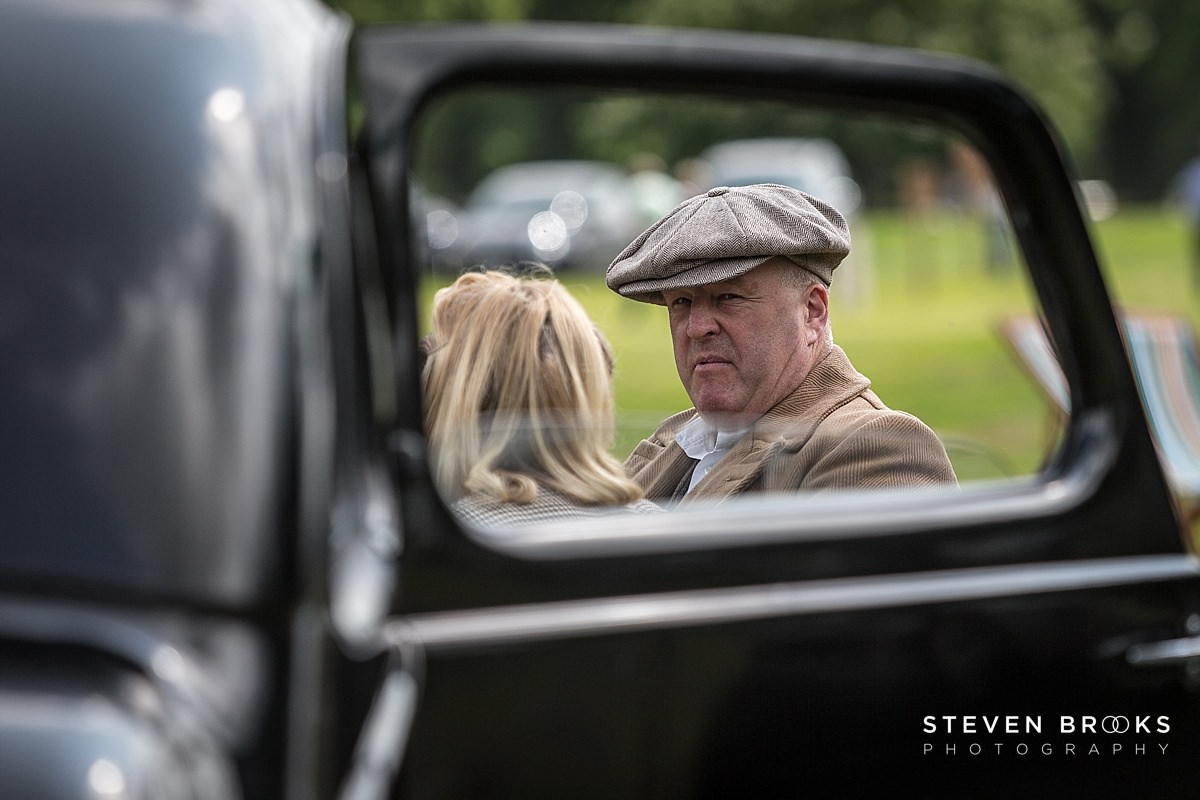 Norfolk photographer steven brooks photographs Britain Does Vintage at Stody Lodge man in cloth cap