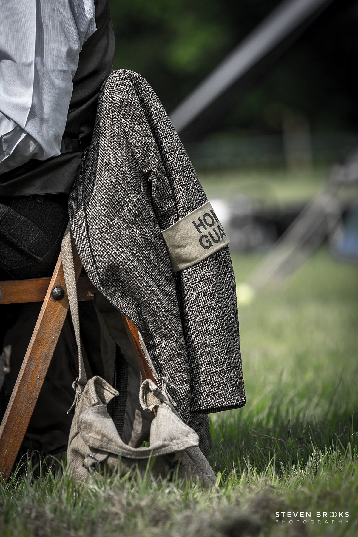 Norfolk photographer steven brooks photographs Britain Does Vintage at Stody Lodge Home Guard in vintage clothes
