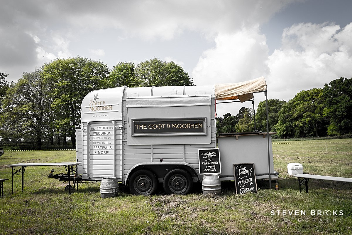 Norfolk photographer steven brooks photographs Britain Does Vintage at Stody Lodge converted horse box for Coot & Moorhen