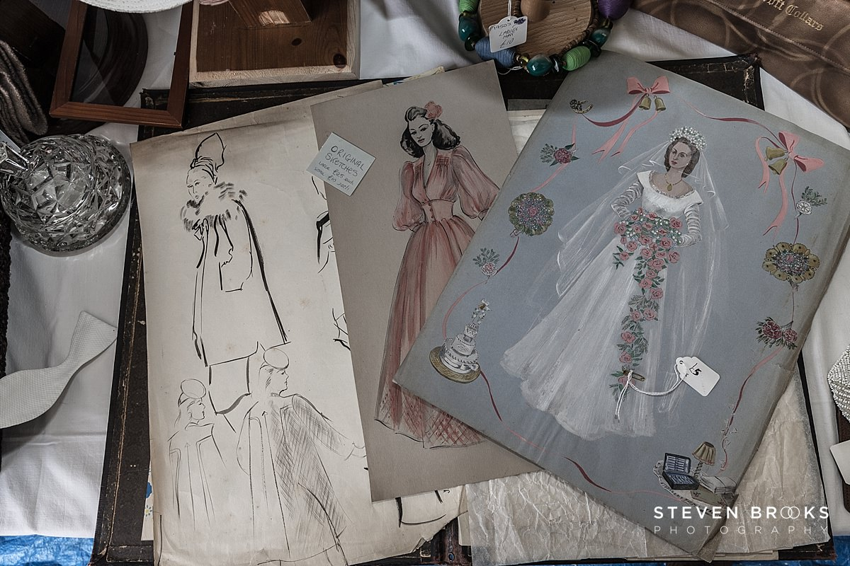 Norfolk photographer steven brooks photographs Britain Does Vintage at Stody Lodge two women in vintage dress patterns