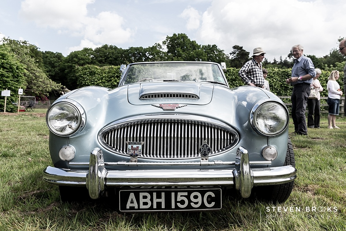 Norfolk photographer steven brooks photographs a vintage Austin Healey at Britain Does Vintage at Stody Lodge
