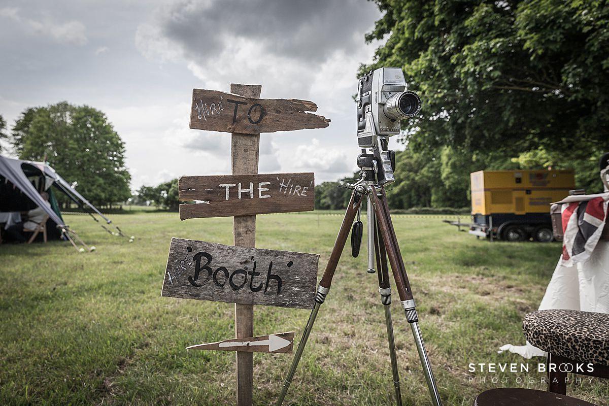 Norfolk photographer steven brooks photographs signage and cine camera at Britain Does Vintage in Noirfolk