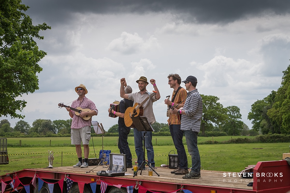 Norfolk photographer steven brooks photographs the band at Britain Does Vintage in Norfolk