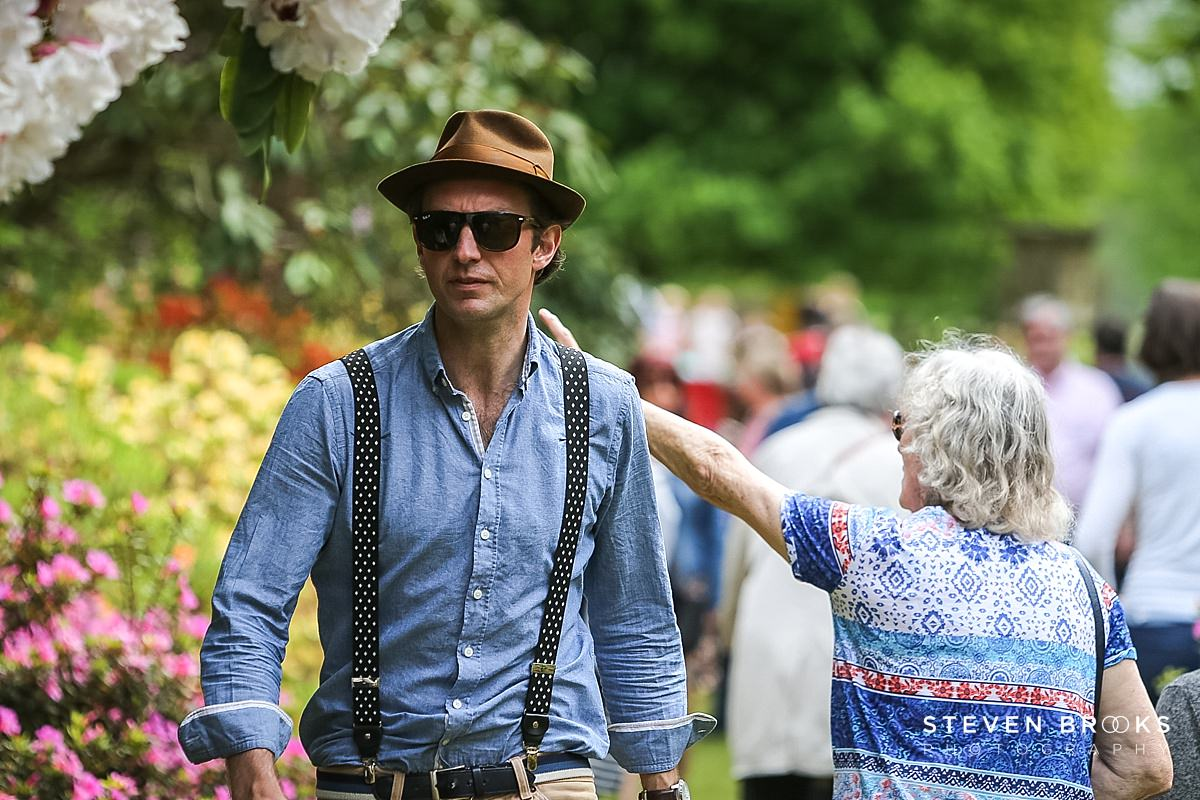 Norfolk photographer steven brooks photographs a ctrendy gentleman at Britain Does Vintage in Norfolk