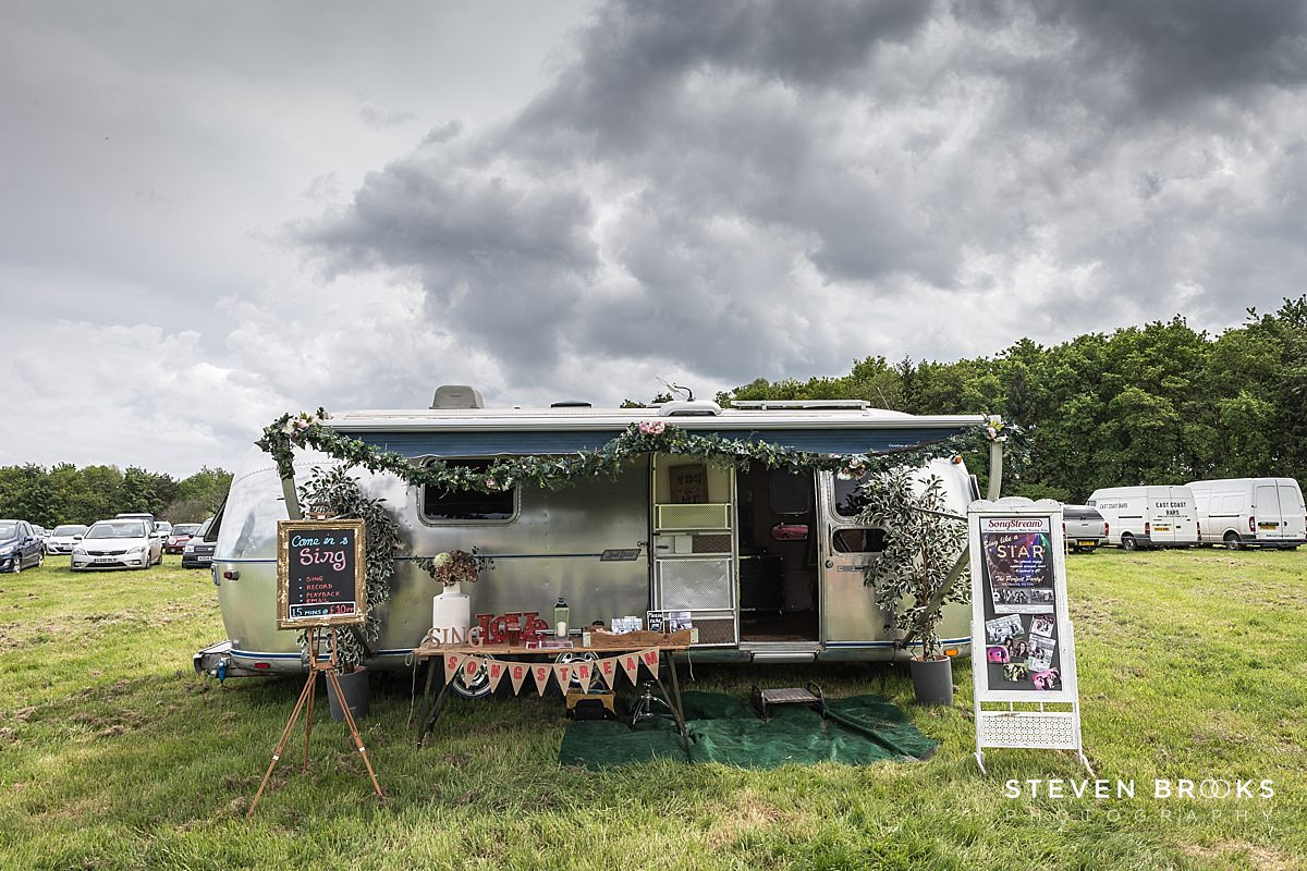Norfolk photographer steven brooks photographs an Airstream caravan at Britain Does Vintage in Norfolk