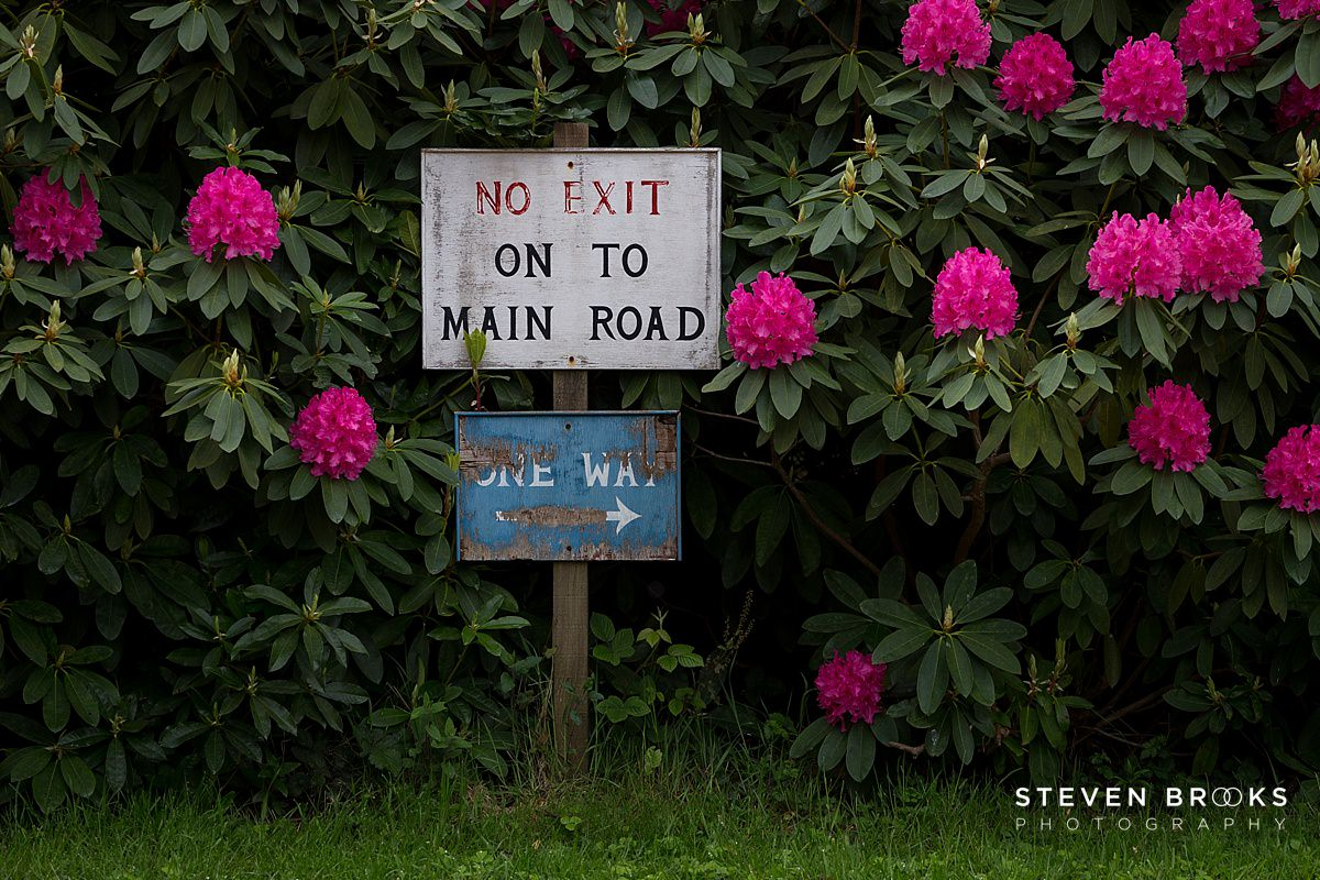 Norfolk photographer steven brooks photographs signage on the Stody Lodge estate in Norfolk