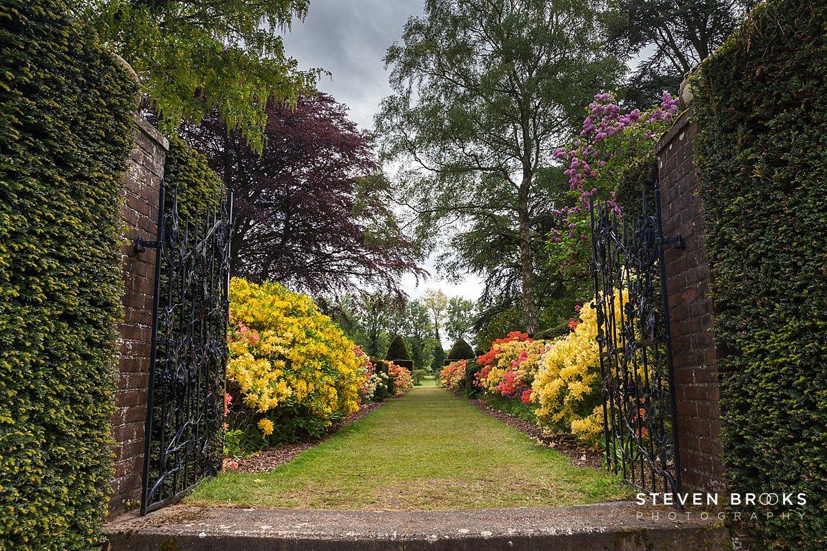 Norfolk photographer steven brooks photographs garden gates on the Stody Lodge estate in Norfolk