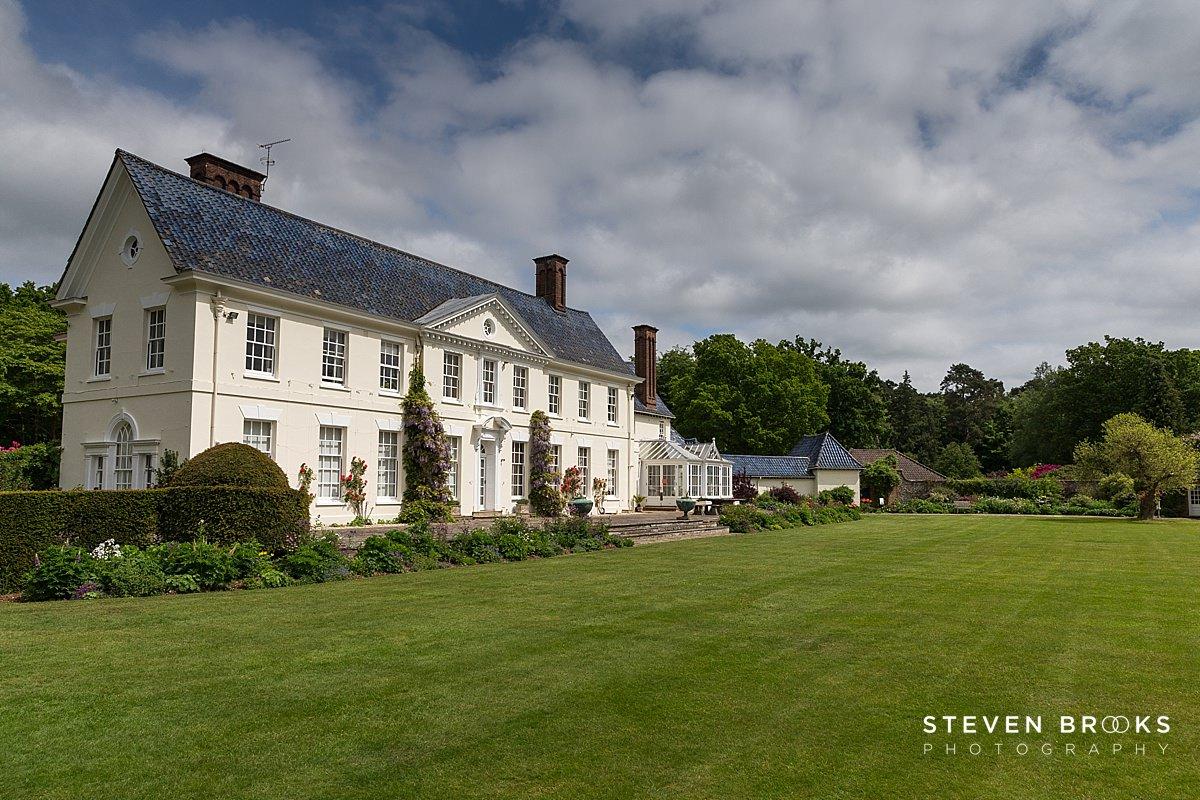 Norfolk photographer steven brooks photographs the lodge on the Stody Lodge estate in Norfolk