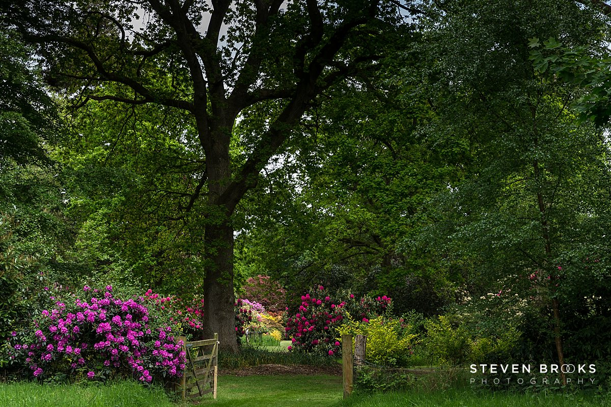 Norfolk photographer steven brooks photographs gateway on the Stody Lodge estate in Norfolk
