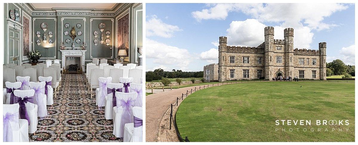 Leeds Castle wedding photographer steven brooks photographs leeds castle and the wedding ceremony room