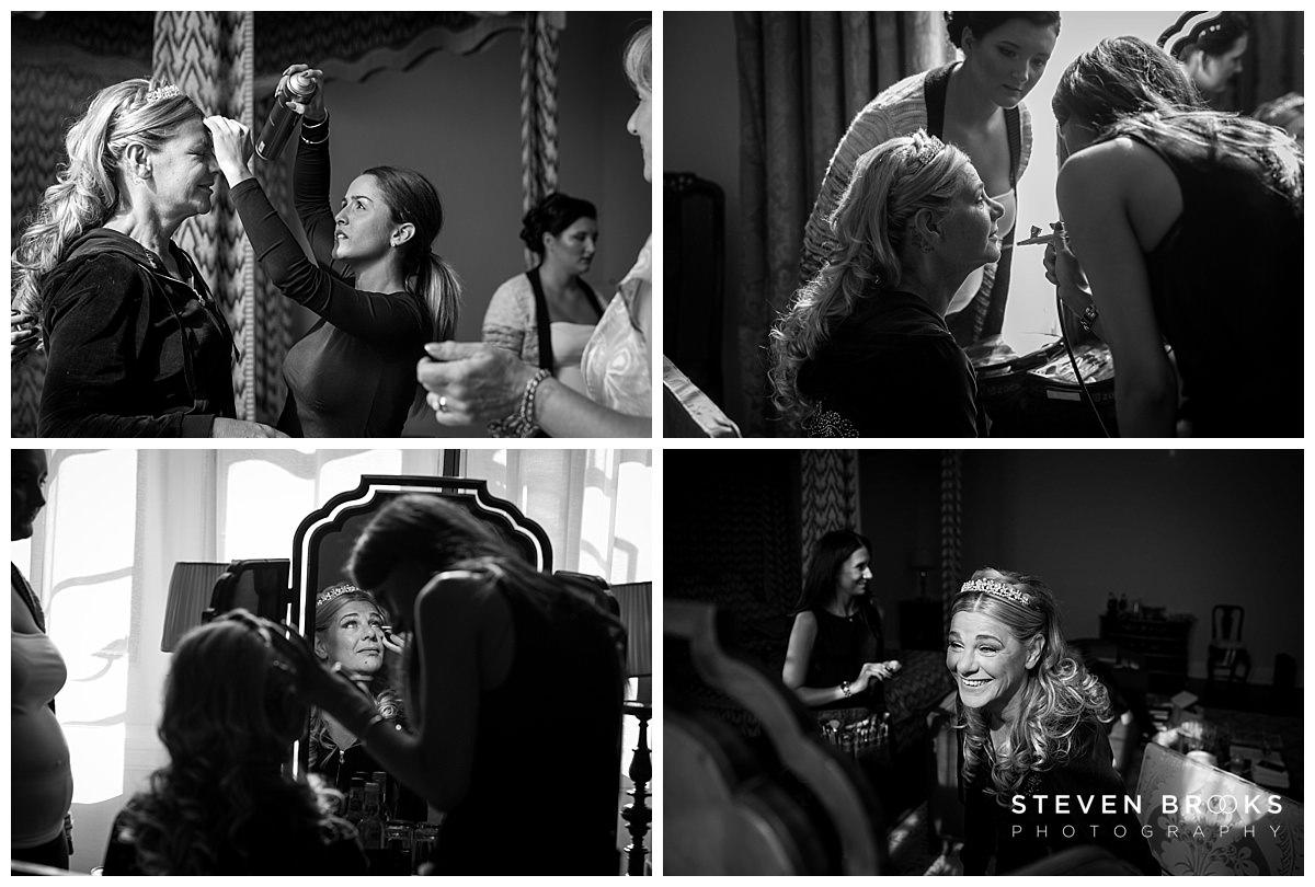 Leeds Castle wedding photographer steven brooks photographs bridal preparation in leeds castle