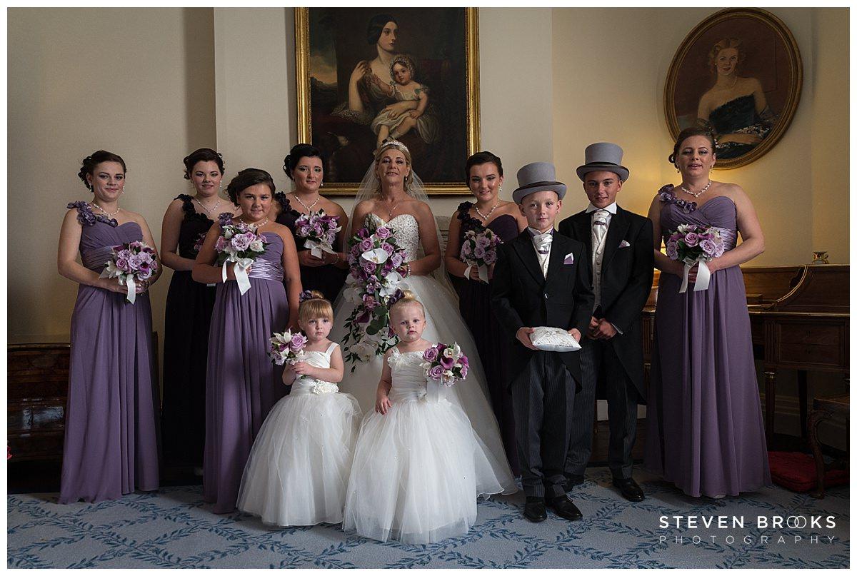 Leeds Castle wedding photographer steven brooks photographs bridal party in leeds castle