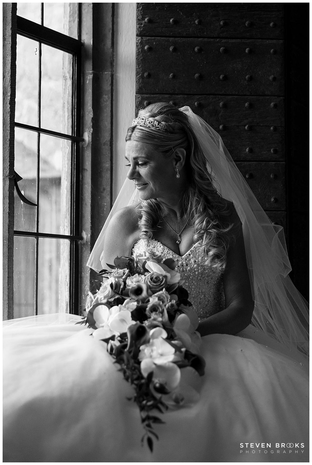 Leeds Castle wedding photographer steven brooks photographs a bridal portrait at Leeds Castle