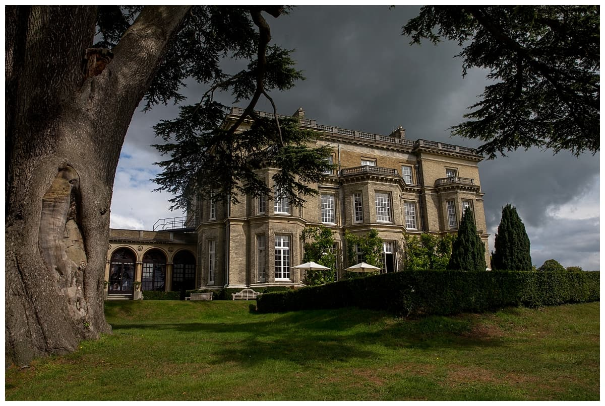 Hedsor House side viewphotographed by steven brooks wedding photographer