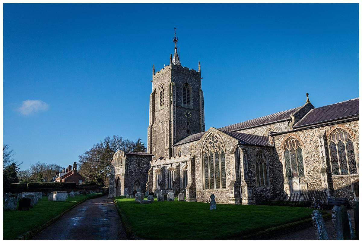 Aylsham Church in the Winter sunlight